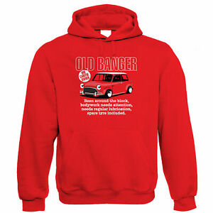 Old Banger, Mens Funny Classic Mini Hoodie, Gift for Dad Birthday