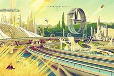 "Kevin Tong Mondo Disney Tomorrowland Movie Poster Print 24"" X 36"" Ed 375 Sold Ou"