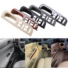 Beige Door Window Switch Bezel + Handle Trim Set For VW Jetta Golf MK4 Passat B5