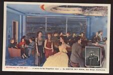 Postcard San Diego Ca El Cortez Sky Room 1940's?