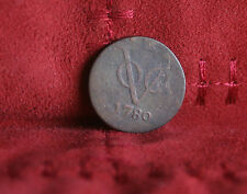 1780 Netherlands East Indies VOC World Coin Duit Holandia New York penny Holland