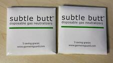 10 Subtle Butt Disposable Fart Pad Filter Odors from Intestinal Gas 2(5 Packs)