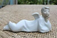 "Vintage Lladro Angel Boy Figurine  ""ANGEL RECLINING"" Spain Shelf Angel"