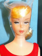 Barbie SWIRL PONYTAIL 1964 JAPAN DOLL IN BOX BLONDE FACTORY HAIR WITH BOBBY PIN!
