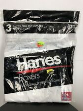 NEW NOS VTG 1996 Hanes Full Cut PACK 3 BOXER SHORTS UNDERWEAR Traditional Fit S