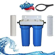 Twin Stage Caravan Water Filter Kit / carbon 5 and sediment 5 micron Camping