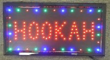 3 Color HOOKAH High Visible LED Light Business Motion Open Sign Chain Switch