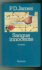 JAMES P.D. SANGUE INNOCENTE  RUSCONI 1981 I° EDIZ. NARRATIVA