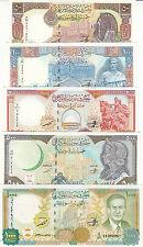 SYRIA 50 100 200 500 1000 LIRA 1997 1998 P-107 . 108 . 109 . 110 . 111 UNC SET