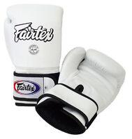 Fairtex BGV4 Pro Training Gloves Wide design White Muay Thai MMA Boxing Gloves
