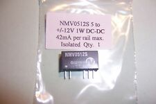 DC-DC Converter 5V to +/-12V 1W isolated dual output NME0512S. New  Qty 1 NEW