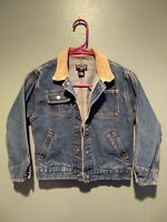 Polo Jeans Ralph Lauren Childs blue denim jean jacket Sz 6  NICE !