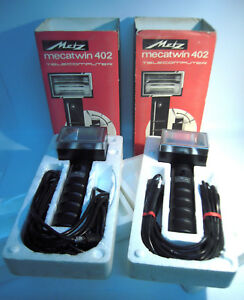 Metz Mecablitz 402 Set 2x Handle Mount Flashes Old Stock Mint Used boxes-K1100