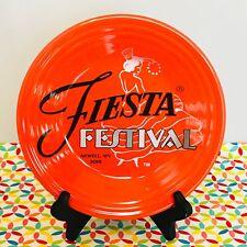 Fiestaware Poppy Fiesta Festival 2018 Lunch Plate Orange Luncheon NEW