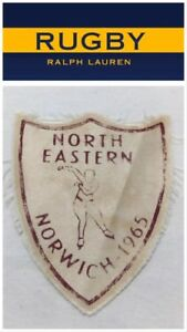 NEW Polo Ralph Lauren Rugby Patch Speed Skating 'NORTH EASTERN NORWICH 1965'