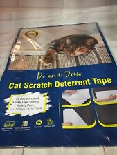 10 Pack Cat Scratch Deterrent Tape Double Sided Anti Cats Scratching Sticky Tape