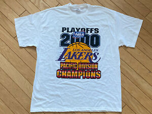 Los Angeles Lakers Showtime 2000 Pacific Division Champions Vintage T-shirt NBA