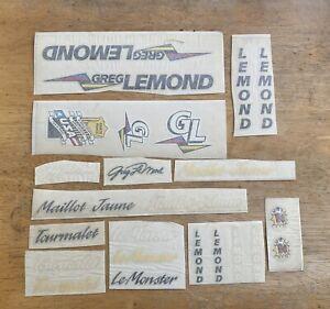 Vintage Greg LeMond Decals Originals NOT Reproductions