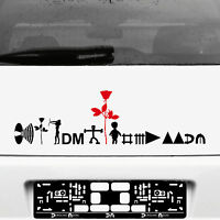 Depeche Mode Tour Motive Set schwarz / rot Aufkleber Tattoo Auto Heck Deko Folie