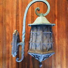 Three Antique Arts & Crafts / Gothic Cast Bronze Light sconces