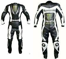 Kawasaki-moto en cuir costume, moto racing vachette hommes cuir (réplique)