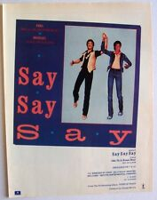 Michael Jackson & Paul McCartney 1983 poster type Advert Say Say Say