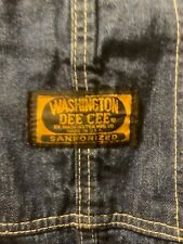 Vtg Washington Dee Cee Sanforized Jeans Denim Button Fly Overalls 34 x 32