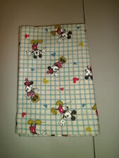 1-Mickey & Minnie Mouse KinderMat/Rest Mat Cover for School Soft, New & Handmade
