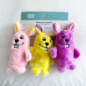 ZippyPaws Squeakie Buddies Easter Bunnies Plush Dog Toy