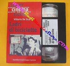 VHS film LADRI DI BICICLETTE Vittorio De Sica SUPER CINEMA ITALIA (F87)no dvd