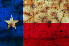 Texas Flag Rusty Distressed Decal State Lone Star Sticker Cowboy Graphic 4""