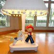 Vtg~Irmi~Nursery~Orignal~ Baby~Child~Boy~Cowboy~Bron co~Horse~Rodeo~Lamp