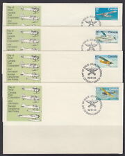CANADA #969-972 BUSH AIRCRAFT SET OF FOUR FIRST DAY COVERS