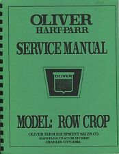 Oliver H.P. Row Crops service manual photocopy