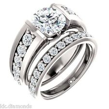 Ring 925 Silver Engagement Ring Sku04 2.35ct Genuine Off White yellow Moissanite