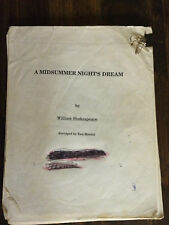 the script for the play A midsummer night's dream - USED AND ABUSED store#1647