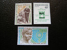 COTE D IVOIRE - timbre yvert et tellier n° 380 382 389 n** (A10) stamp