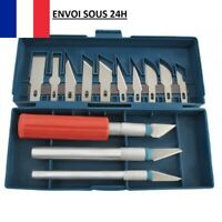 Coffret 3 X Outil Couteau de Précision Scalpel Cutter + 13 X Lames