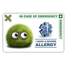 Medical In case of Emergency card Allergy