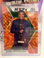 2019 NBA Giannis Antetokounmpo MVP Mosaic Reactive Orange Prizm Bucks No 297