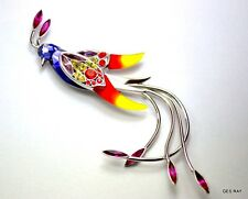 Vintage Jewelry from Daniel Swarovski Paradise Bird Collection BROOCH