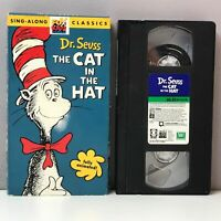 Dr. Seuss The Cat in the Hat VHS Video Tape Sing Along Classics 1994 Rare FAST!