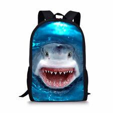 Shark Sea Print Boys Girls School Backpack Bookbag Kids Shoulder Laptop Rucksack