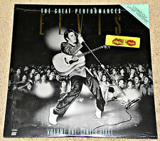 ELVIS THE GREAT PERFORMANCES Vol One LaserDisc SEALED!  And Concert Prop Ticket!