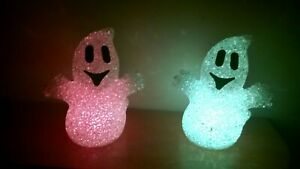 Colour Led Changing Led Ghost Ornament Window Halloween Part Decoration figure