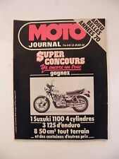 Motorcycle Journal Janvier 1980 No.441 Farewell beautiful années 70