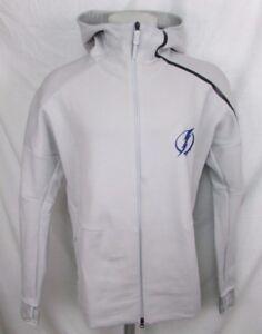 Tampa Bay Lightning Men's Adidas Front Zip Hoodie Gray L, XL, 2XL