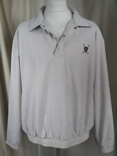 Ralph Lauren Polo Golf Cream Windcheater Zip Neck Jacket XL C46-48""