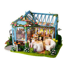 1:24 DIY Dollhouse w/ Furniture, 3D Wooden Garden Cake Shop Tea House Model
