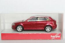 Audi A3 8PA rotmetallic  IE beige Herpa  1:87